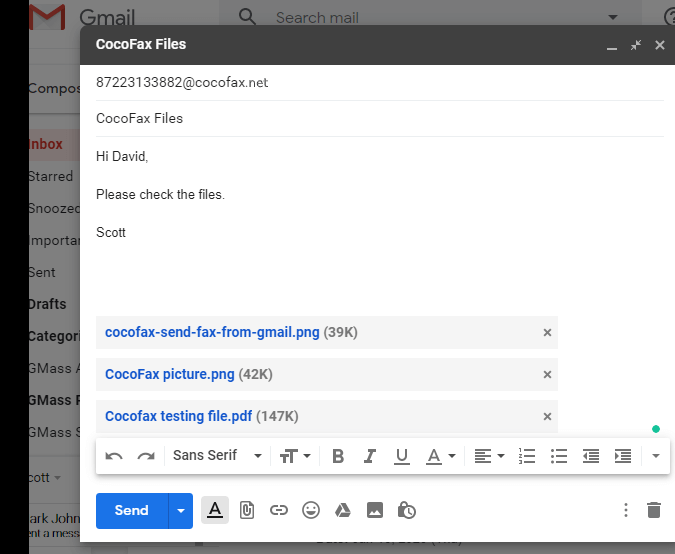 How to Send a Fax From Gmail | Cocofax