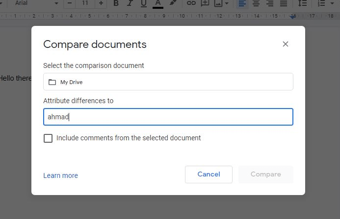 Documents to Compare