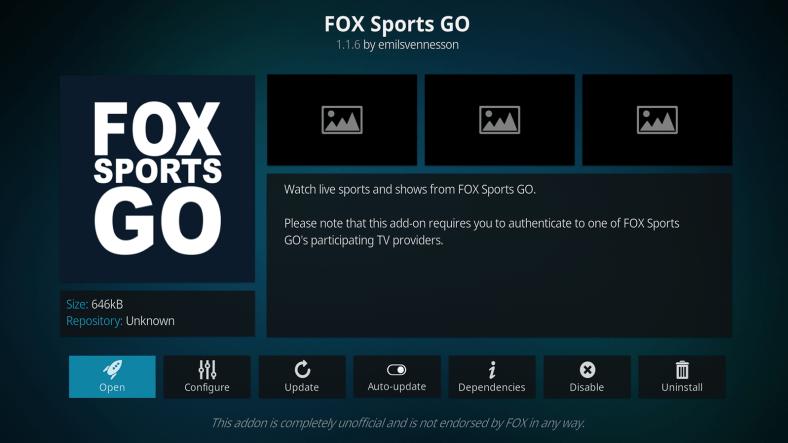 The Best Fox Sports Go Kodi Addon