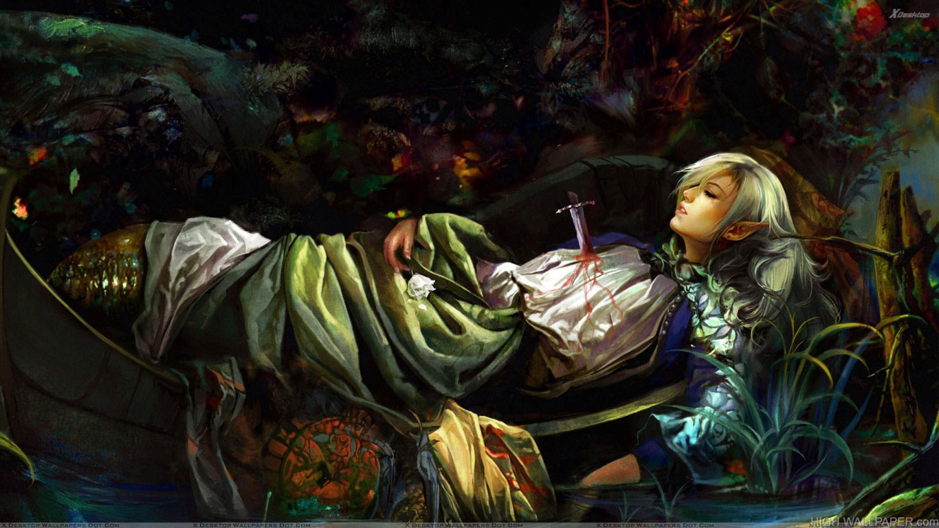 Girl 3 Monitor Wallpaper Dying Girl In A Boat Hd Wallpaper