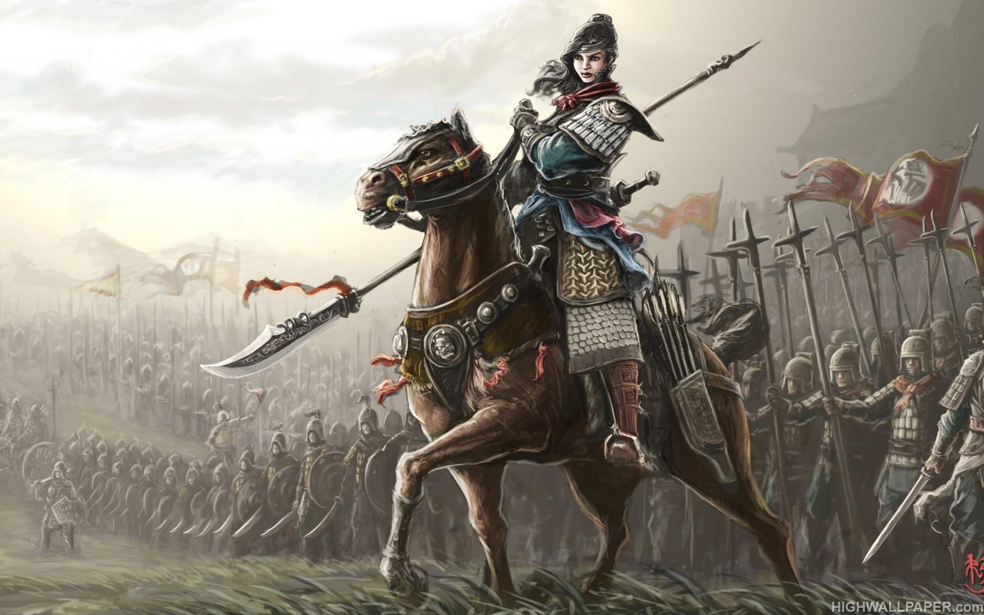 Knights Templar Wallpaper Iphone Lady Warrior On Horse Hd Wallpaper