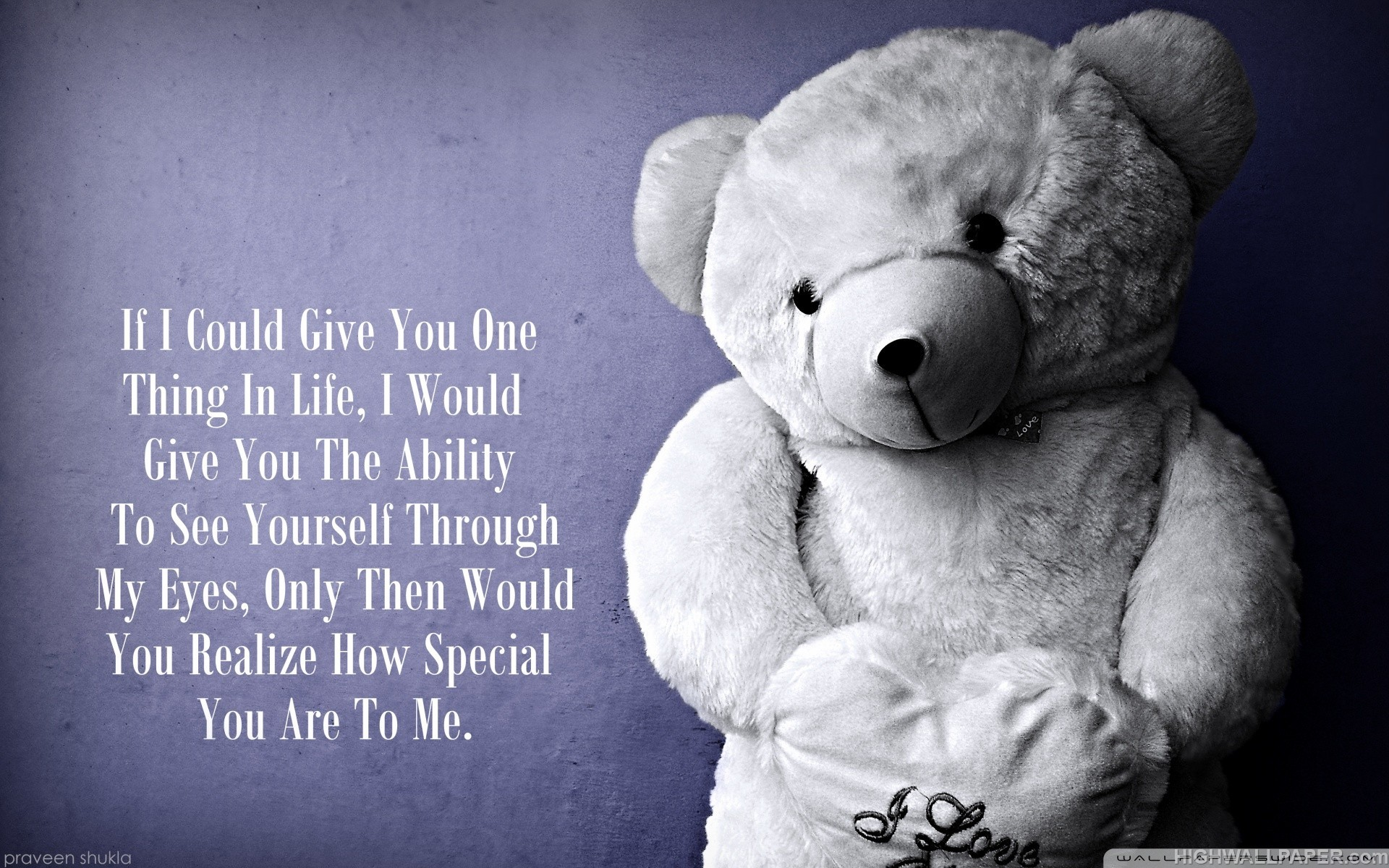 Cute Baby Girl Wallpapers 2015 Love Teddy Bear Quote Hd Wallpaper