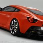 Red Color 2011 Aston Martin V12 Zagato Back Pose Hd Wallpaper