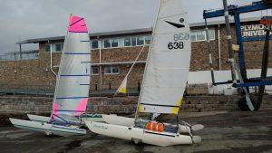Deck-Sweeper mk1 vs original Dart 15 sail design