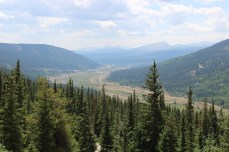 View into the valley after Hoosier Pass