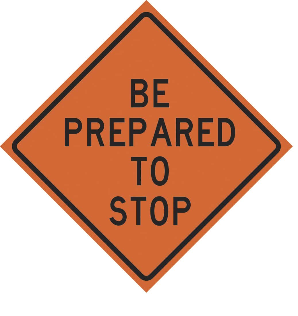 Roll Up Traffic Signs For Informative Safety Messages