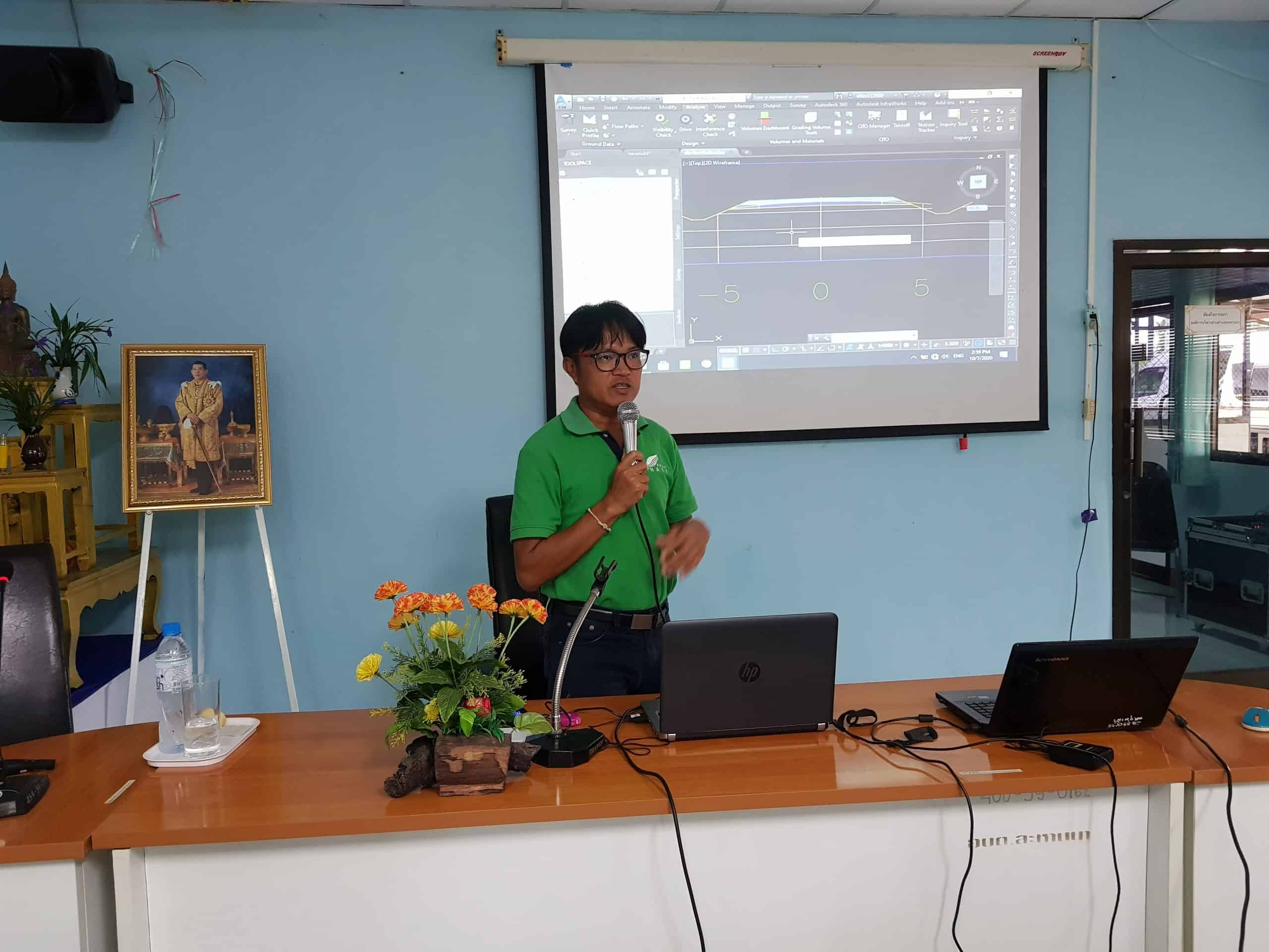 HII organized a workshop on the utility of Geographic Information System (GIS) – Surveying technology for Water Resource evelopment and Planning at Khon Kaen Province