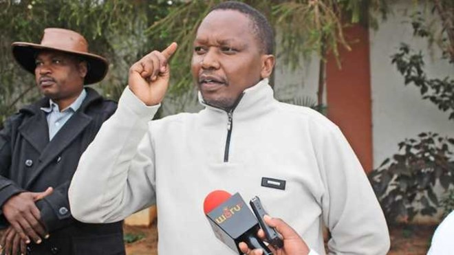 Nyambene Miraa Traders Association chair Kimathi Munjuri. He says traders will lose millions of shillings if the product intended for Somalia is not sold on time. PHOTO | FILE | NATION MEDIA GROUP