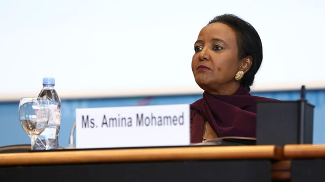Kenya's candidate for top post at WTO Amina Mohamed. She has said she will push for reforms in the global trade refereeing body, even as she pledged to remain guided by the member states. PHOTO   COURTESY   WTO