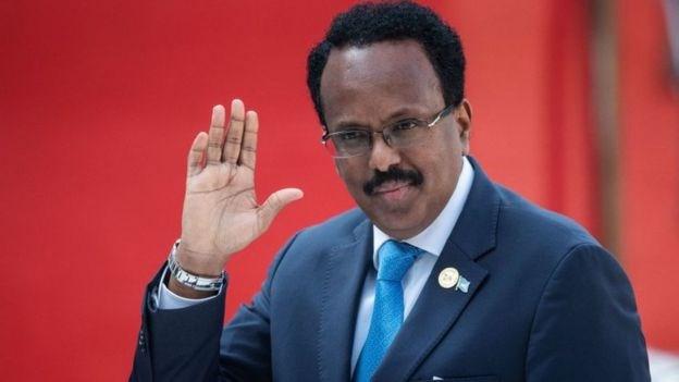 Mohamed Abdullahi Mohamed gave up his US citizenship to become Somalia's president/AFP