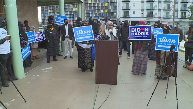 Rep. Ilhan Omar presses her supporters to get off the sidelines and take part in 2020 election.