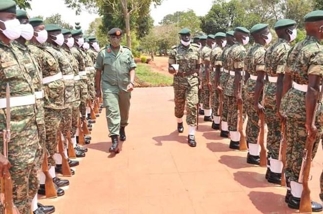 CDF Gen Muhoozi inspects troops ahead of deployment (PHOTO/Courtesy)