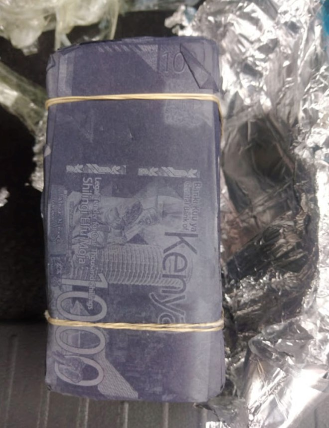 A bundle of fake money found in possession of the suspects. Image:Courtesy.