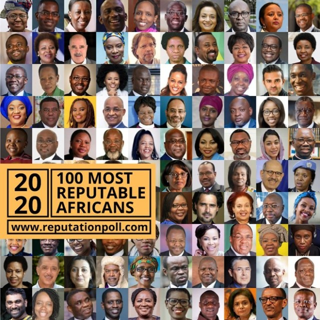 100 Most Reputable Africans 2020