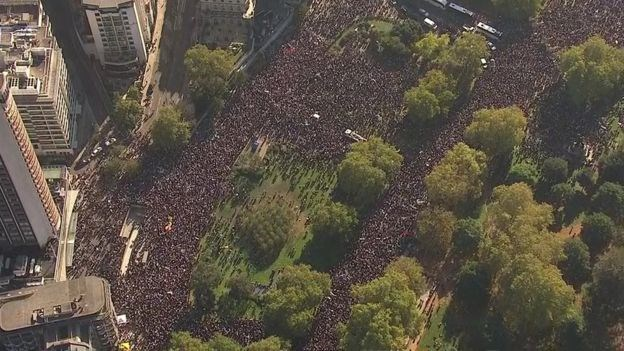 Peoples Vote March Hundreds Of Thousands Attend London