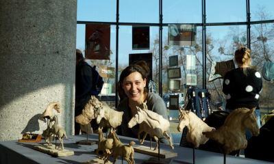 Pani Ewa Jaworska i jej ceramiczne konie