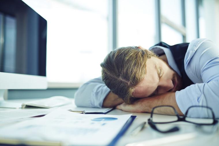 Fatigue businessman