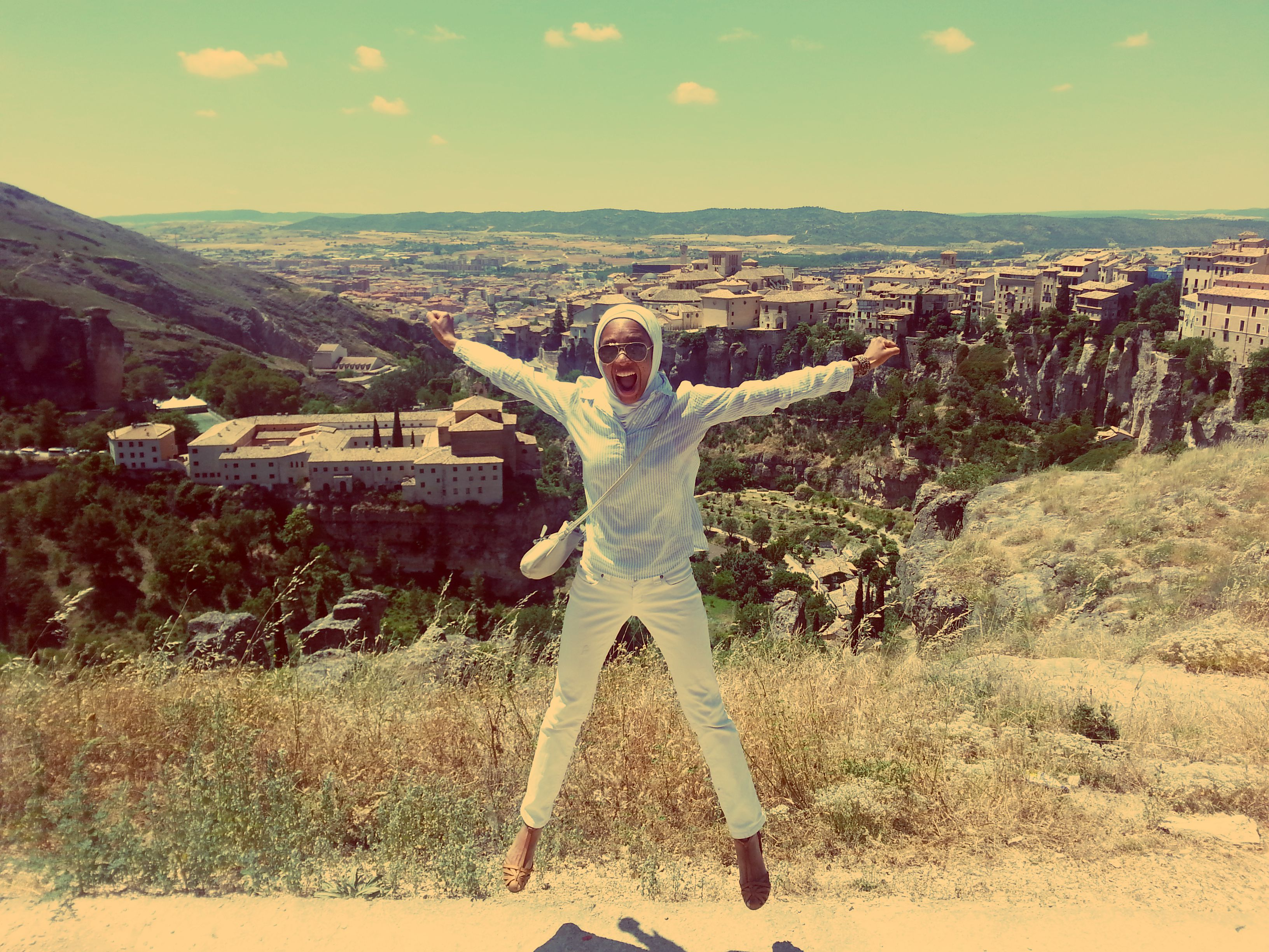 Jumping in Cuenca