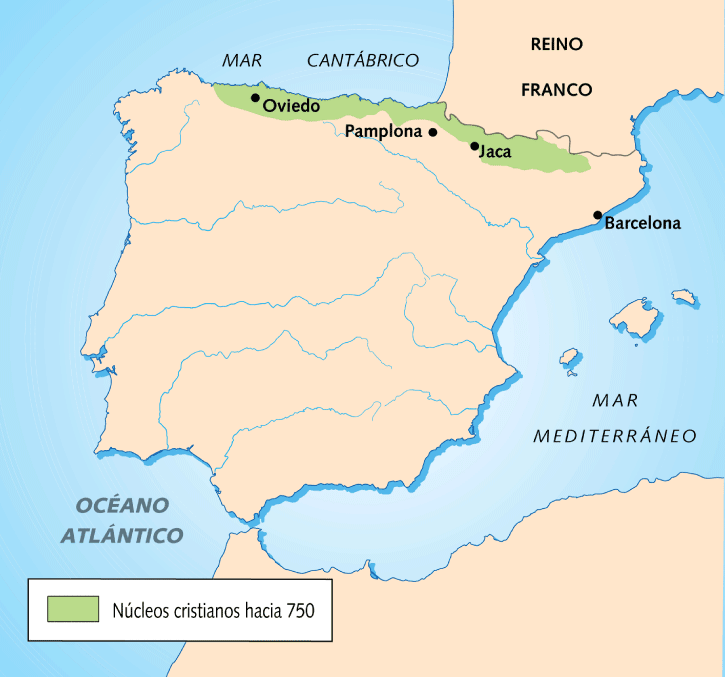 Northern Spain without Moorish influence