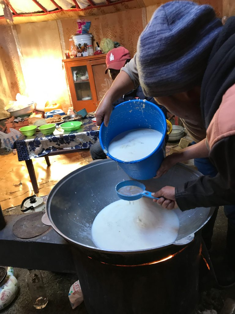 Nomad in Mongolia: Yak Milk