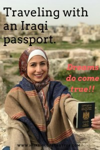 pinterest post on Iraqi passport