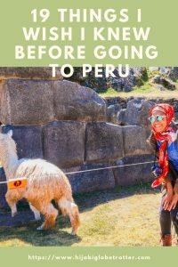 19 things I wish i knew before going to Peru