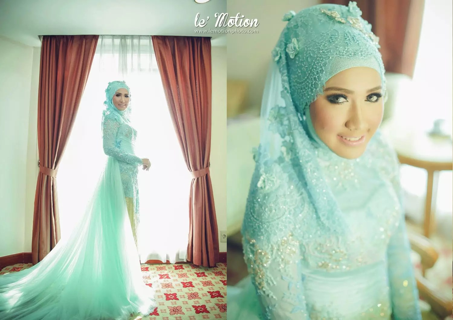 A Collection Of Islamic Wedding Gowns With Hijab