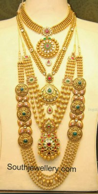 The Latest Images of Gold Bridal Necklace Designs ...