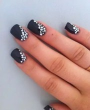 black & white nails art ideas