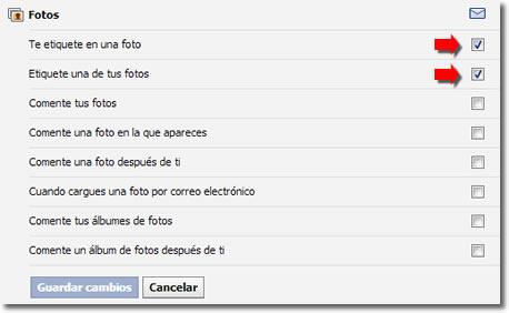 Configura las notificaciones de Facebook