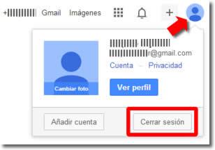 Cerrar sesión en Google