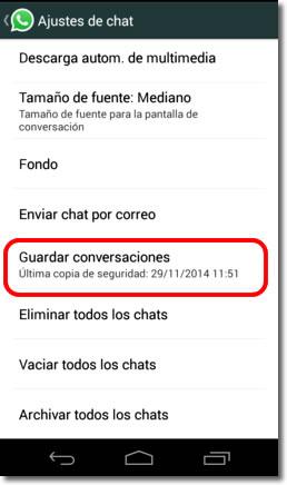 Cómo recuperar conversaciones borradas en WhatsApp