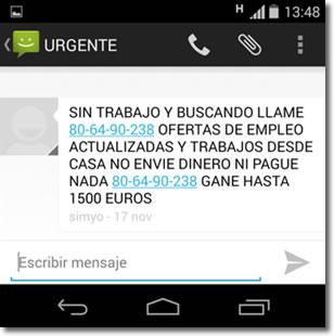 Cuidado con los fraudes por SMS