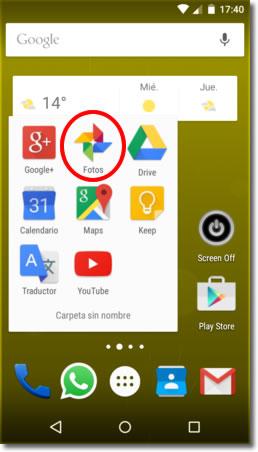 Carpetas para la subida automática de Android