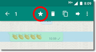 ¿Para qué sirve la estrella del Whatsapp?