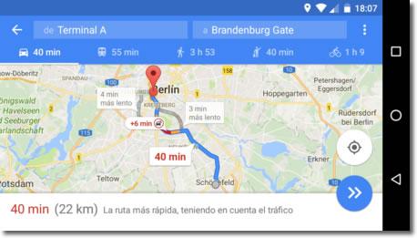 Si vas a viajar, utiliza Google Maps para guardar tus trayectos