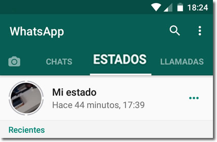 Revisa la privacidad de los nuevos estados de Whatsapp