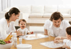 Hablar con los hijos durante la comida