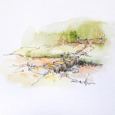 Stepping stones, Grass Keld Spring