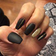 matte black nails 'll sweep