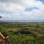 A view of the east shore and Kapa'a as you climb up switchbacks on the East Trail.