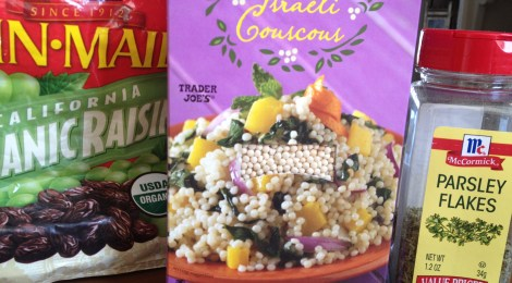 This dish was inspired by a recipe on the box of Trader Joe's Israeli couscous.