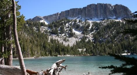 Majestic, oft-snow-covered peaks surround McLeod Lake