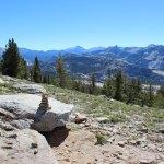 Rock cairns mark the way to Mt. Hoffman