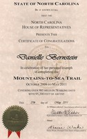 MST NC House of Rep Certificate