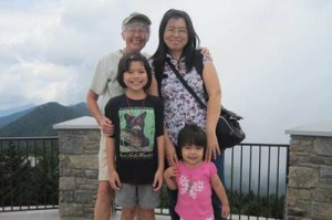 The Wang-Bernsteins on top of Mt. Mitchell