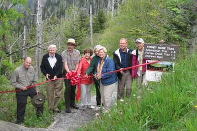 Trails Forever Celebration - ribbon cutting