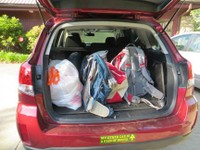 Camping with kids - full car