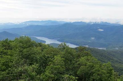 Fontana Lake from Shuckstack Tower