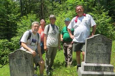 ATC 2013-group at Bradley Cemetery